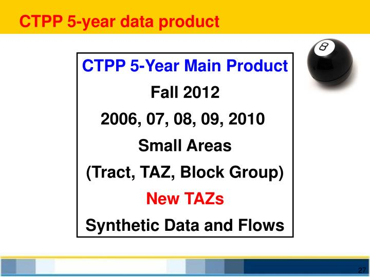 CTPP 5-year data product