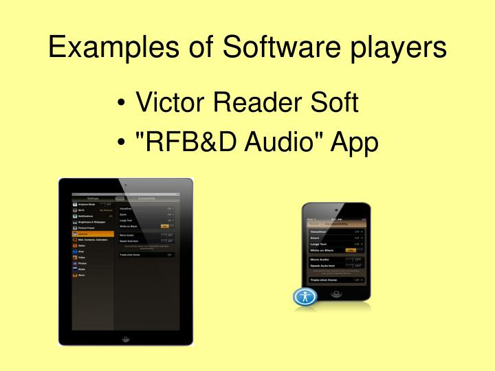 Examples of Software players