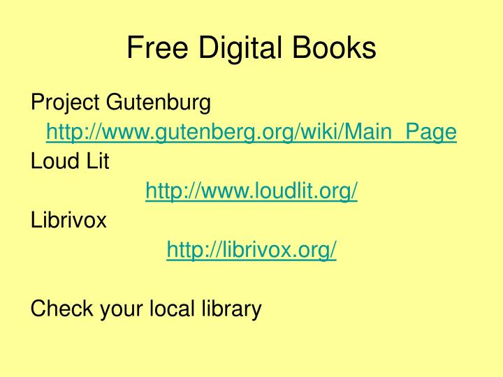 Free Digital Books
