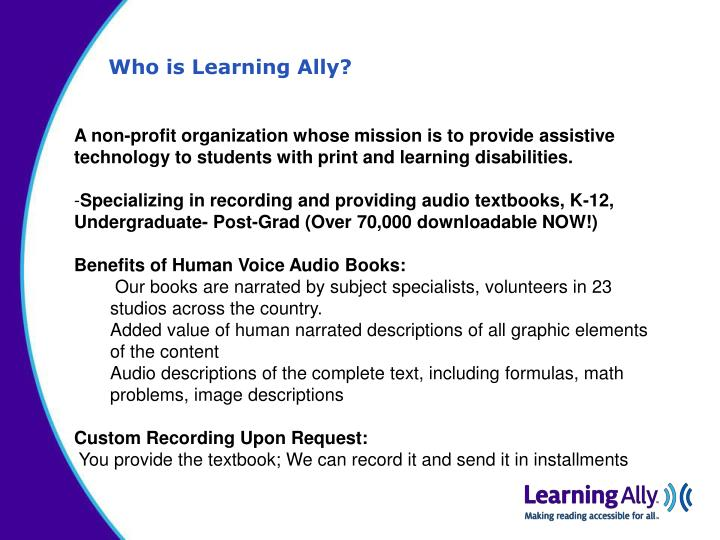 Who is Learning Ally?