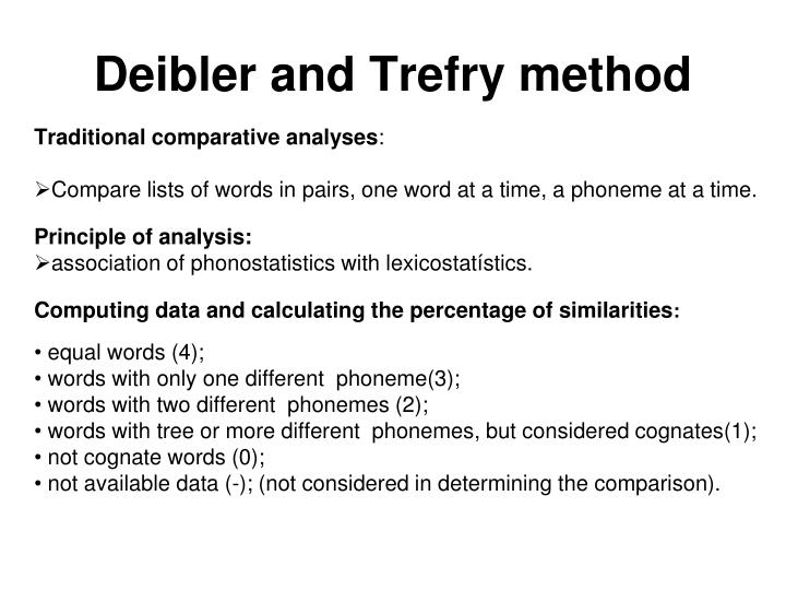 Deibler and Trefry method