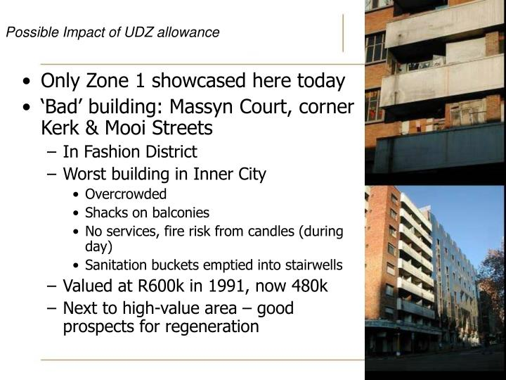 Possible Impact of UDZ allowance