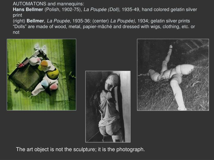 AUTOMATONS and mannequins: