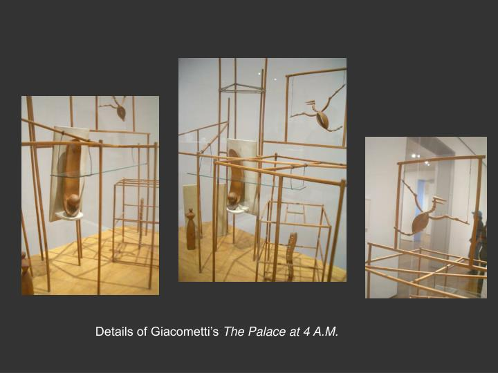 Details of Giacometti's