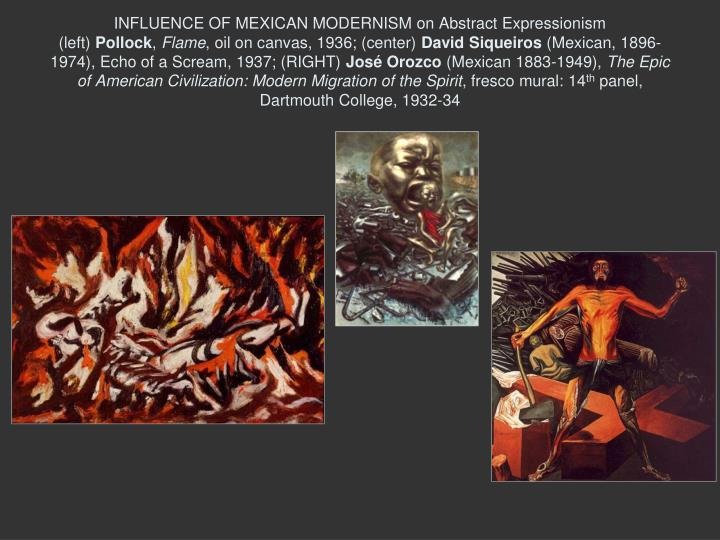 INFLUENCE OF MEXICAN MODERNISM on Abstract Expressionism
