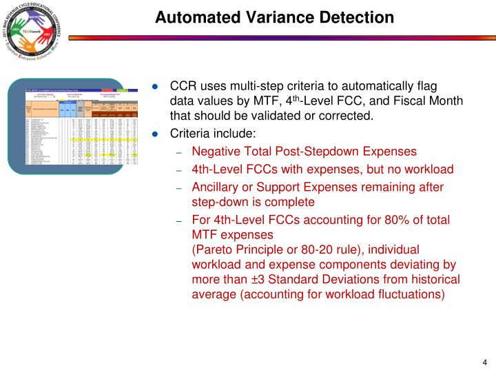 Automated Variance Detection