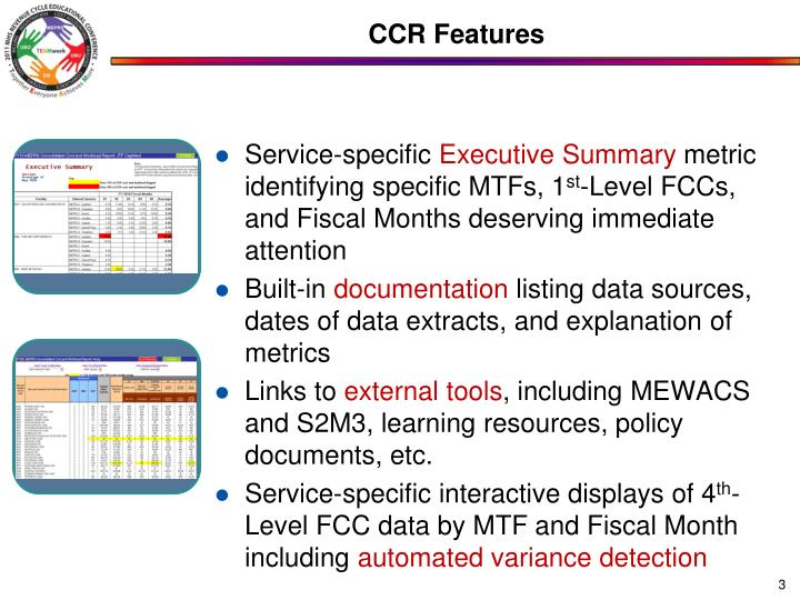 CCR Features