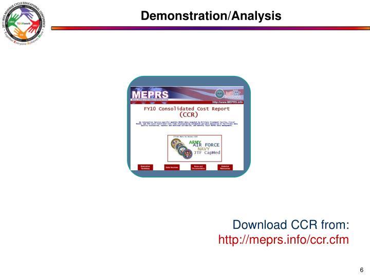Demonstration/Analysis