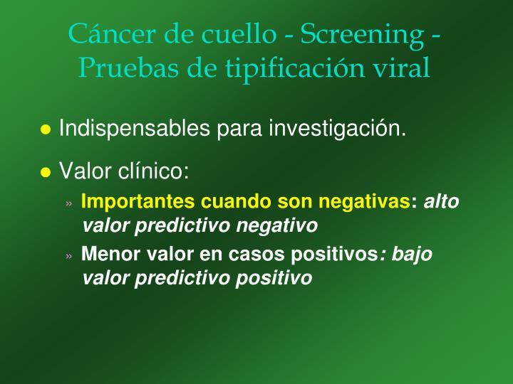 Cáncer de cuello - Screening -