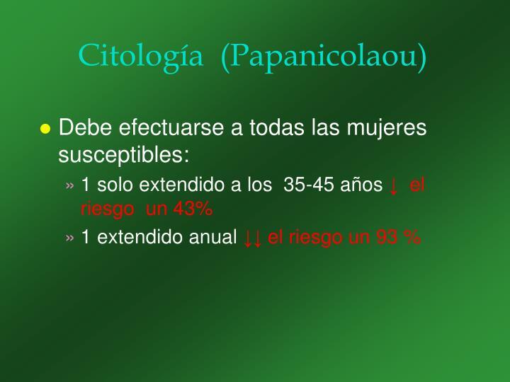 Citología  (Papanicolaou)