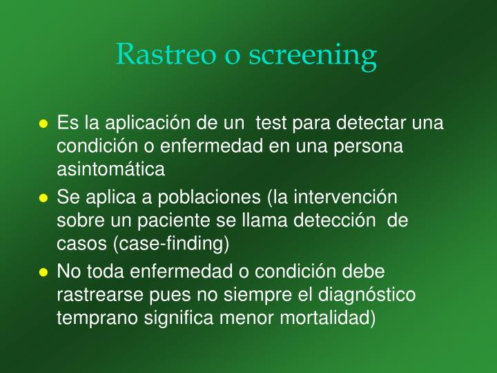 Rastreo o screening