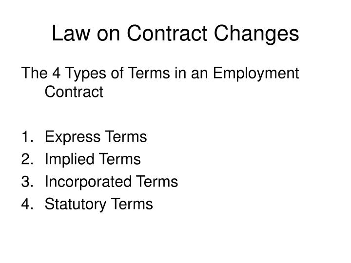 Law on contract changes1