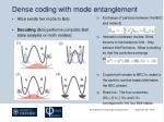 dense coding with mode entanglement2