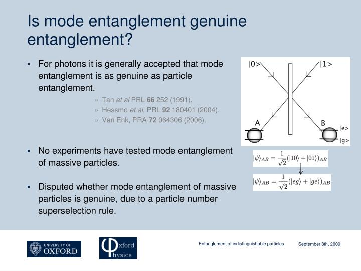 Is mode entanglement genuine entanglement?