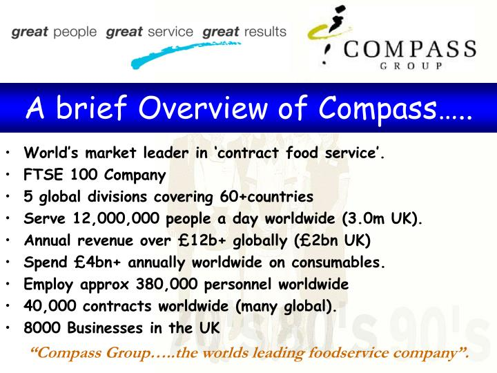 A brief Overview of Compass…..