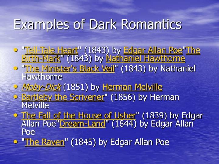 Examples of Dark Romantics