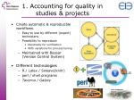 1 accounting for quality in studies projects