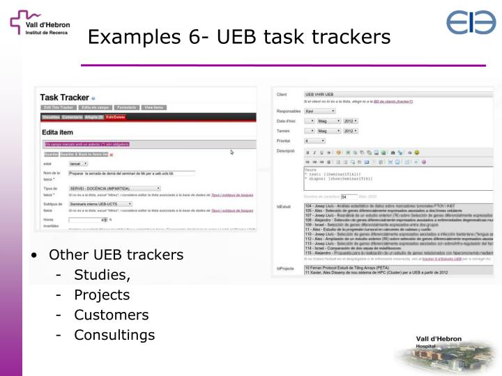 Examples 6- UEB task trackers