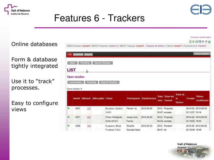 Features 6 - Trackers
