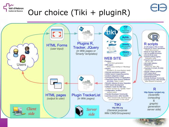 Our choice (Tiki + pluginR)