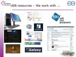 ueb resources we work with