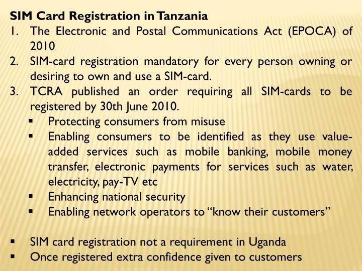SIM Card Registration in Tanzania