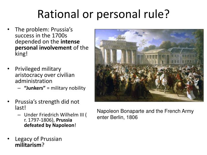 Rational or personal rule?