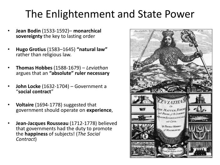 The Enlightenment and State Power