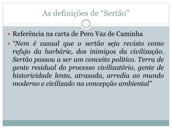 """As definições de """"Sertão"""""""