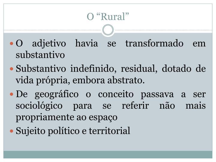 """O """"Rural"""""""