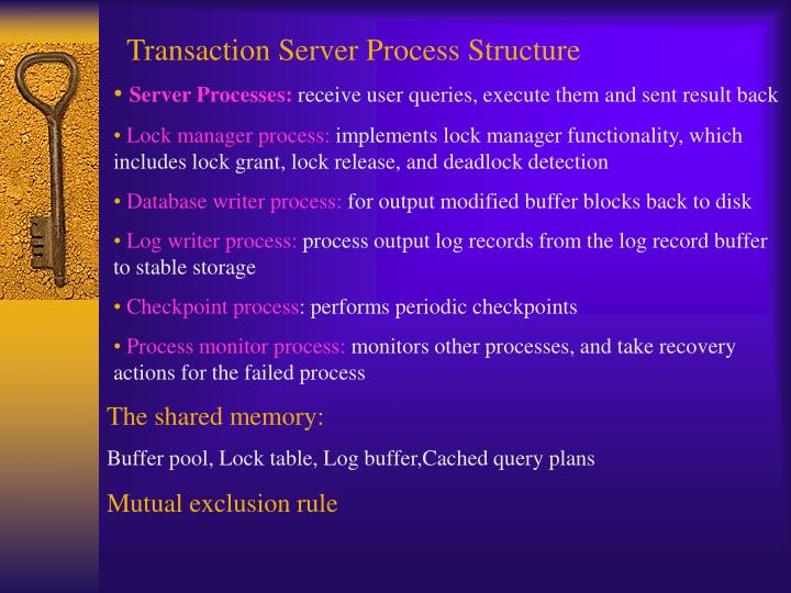 Transaction Server Process Structure