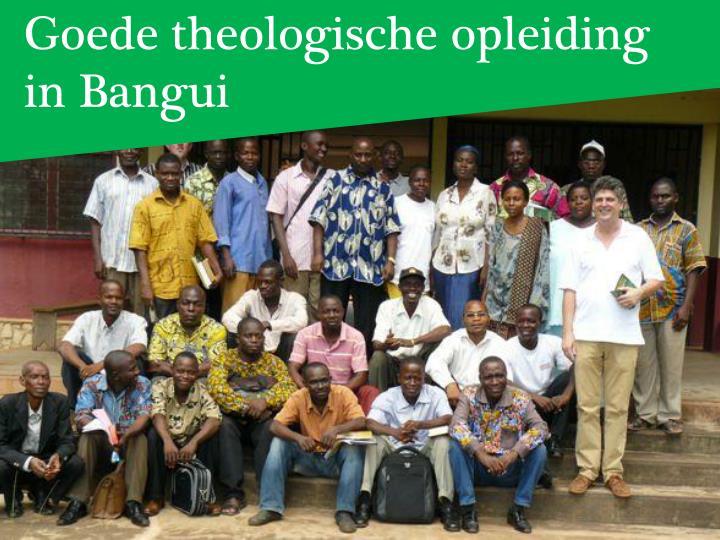 Goede theologische opleiding
