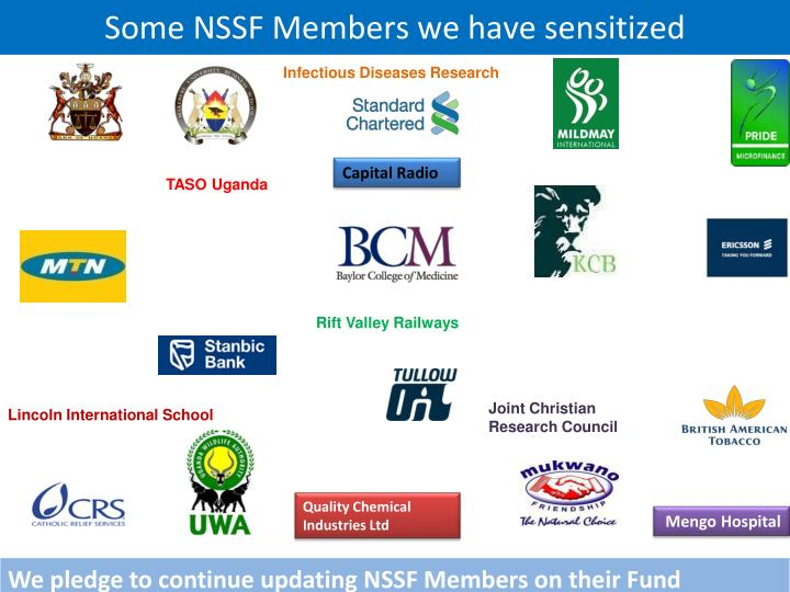 Some NSSF Members we have sensitized
