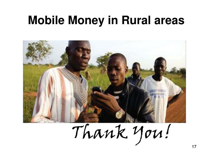 Mobile Money in Rural areas