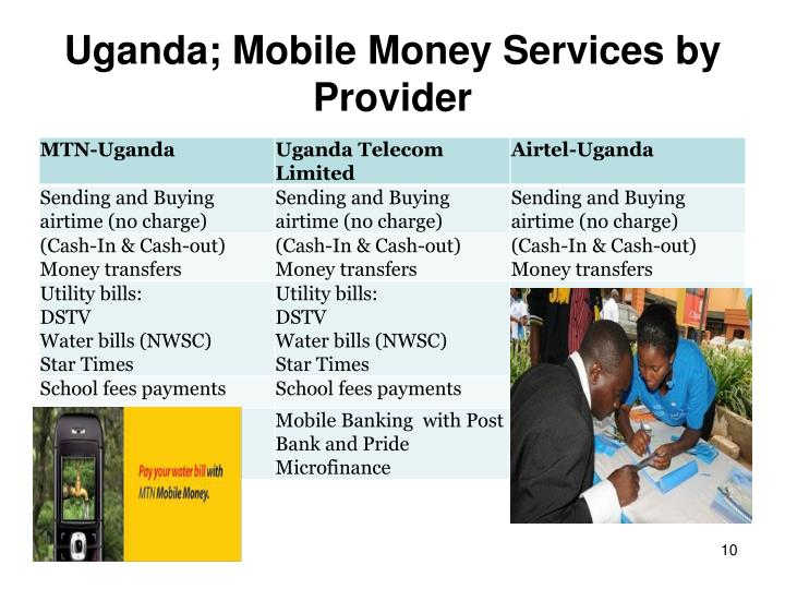Uganda; Mobile Money Services by Provider