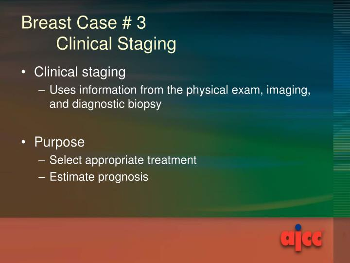 Breast cancer clinical staging