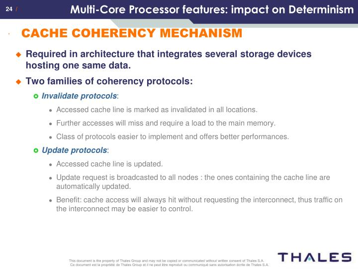 Multi-Core Processor features: impact on Determinism