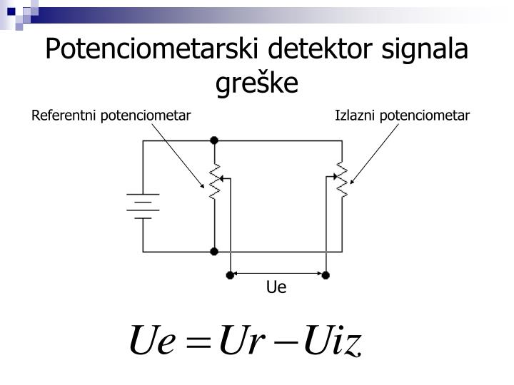 Potenciometarski detektor signala greške
