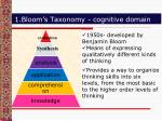 1 bloom s taxonomy cognitive domain