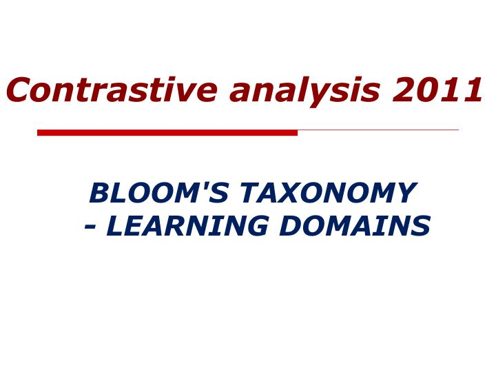 Bloom s taxonomy learning domains