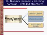 ii bloom s taxonomy learning domains detailed structures
