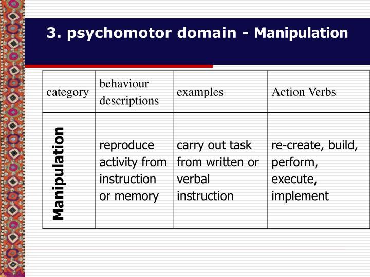 3. psychomotor domain -
