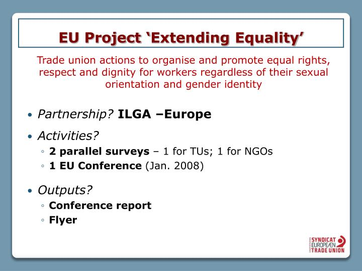 Eu project extending equality