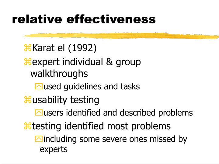 relative effectiveness