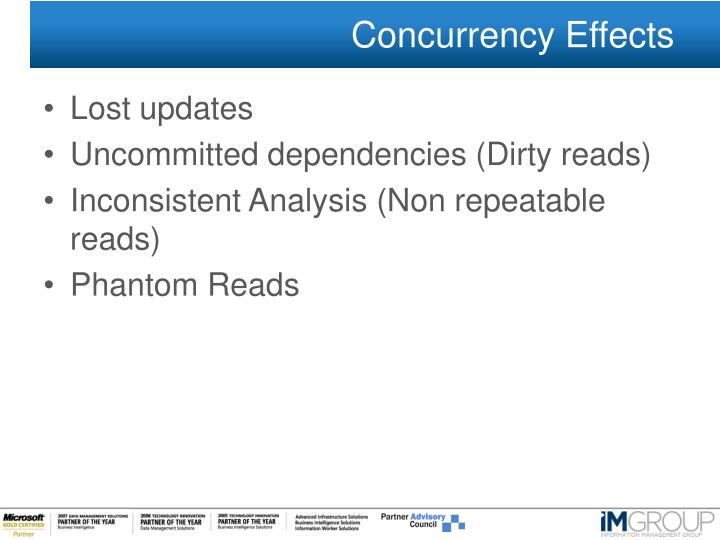 Concurrency Effects