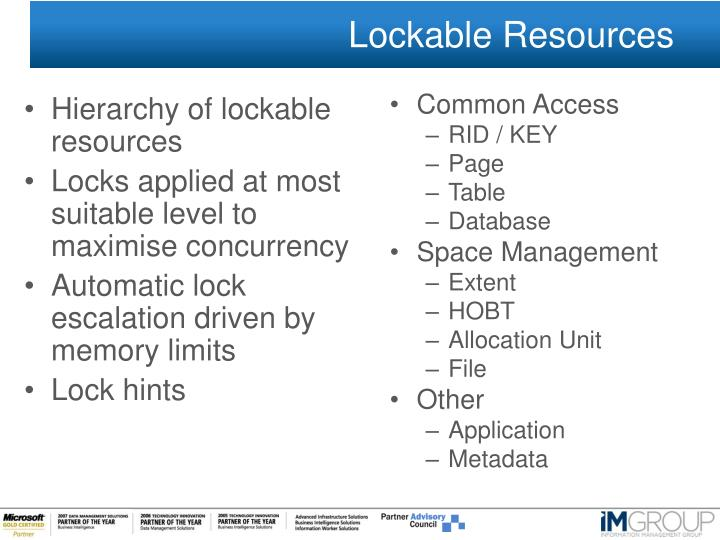 Lockable Resources