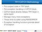 try catch methodology