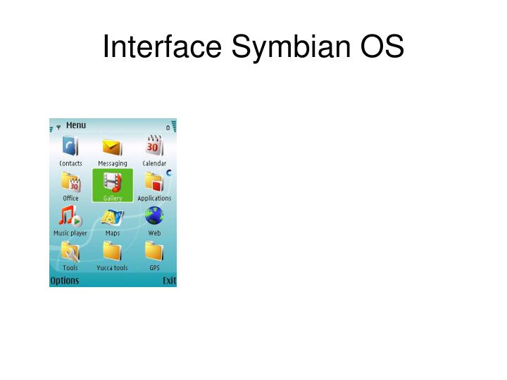Interface Symbian OS