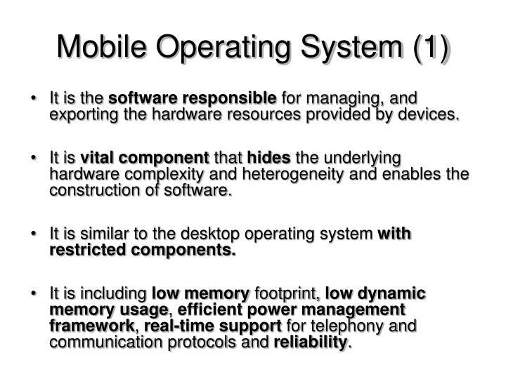 Mobile Operating System (1)