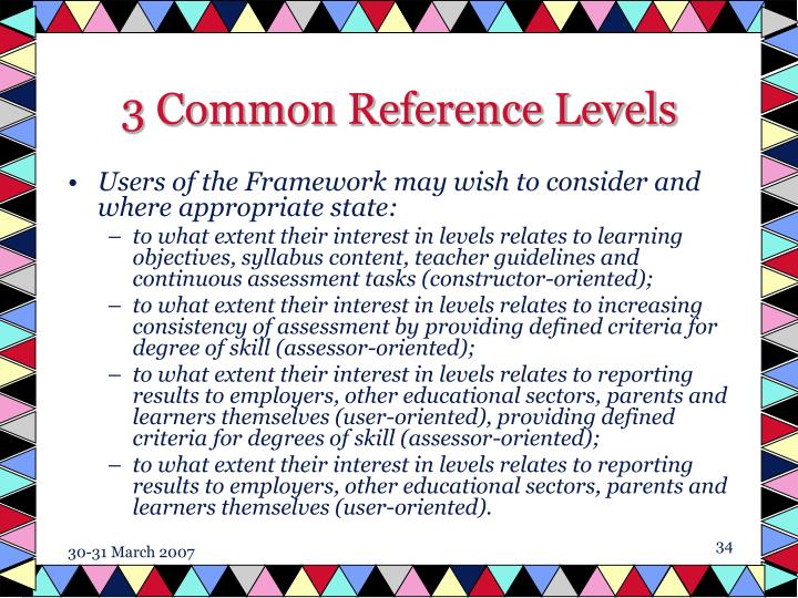 3 Common Reference Levels